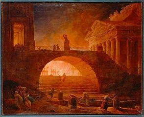 Robert Hubert-Incendie à Rome