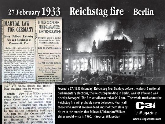 27 Φλεβάρη 1933 - Το Reichstag καίγεται