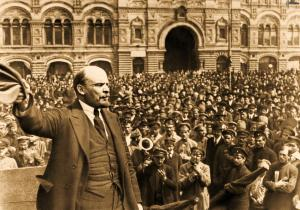 October revolution-Lenin - small
